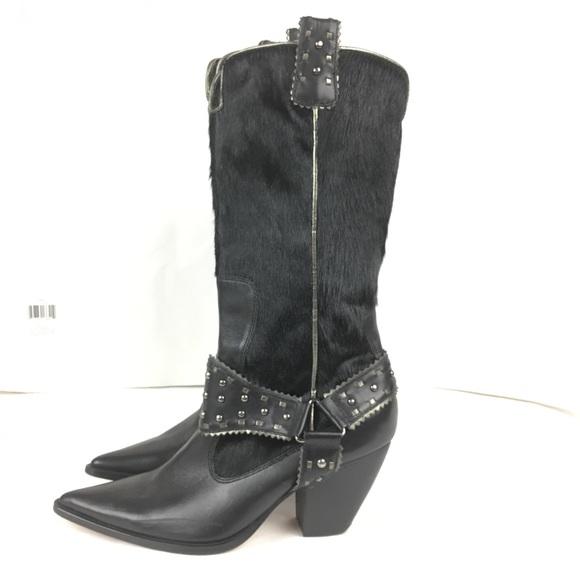 2864038f5e0 Steven by Steve Madden cowboy boots black Sz 7. M 5a432434c9fcdf2c31080570
